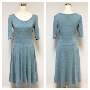 LuLaRoe Grayish Blue Nicole Dress 10R